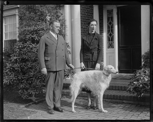 Gov. Curley and daughter Mary with family dog