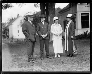 Con. Allen T. Treadway / Cal Coolidge / Mrs. Coolidge / Mrs. Treadway - Plymouth, VT