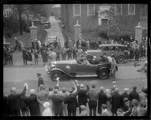 Andover: President and Mrs. Coolidge at Phillips Academy celebration