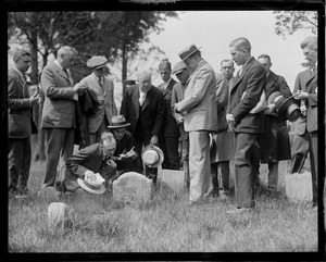 Pres. and Mrs. Coolidge at Watertown Cemetery