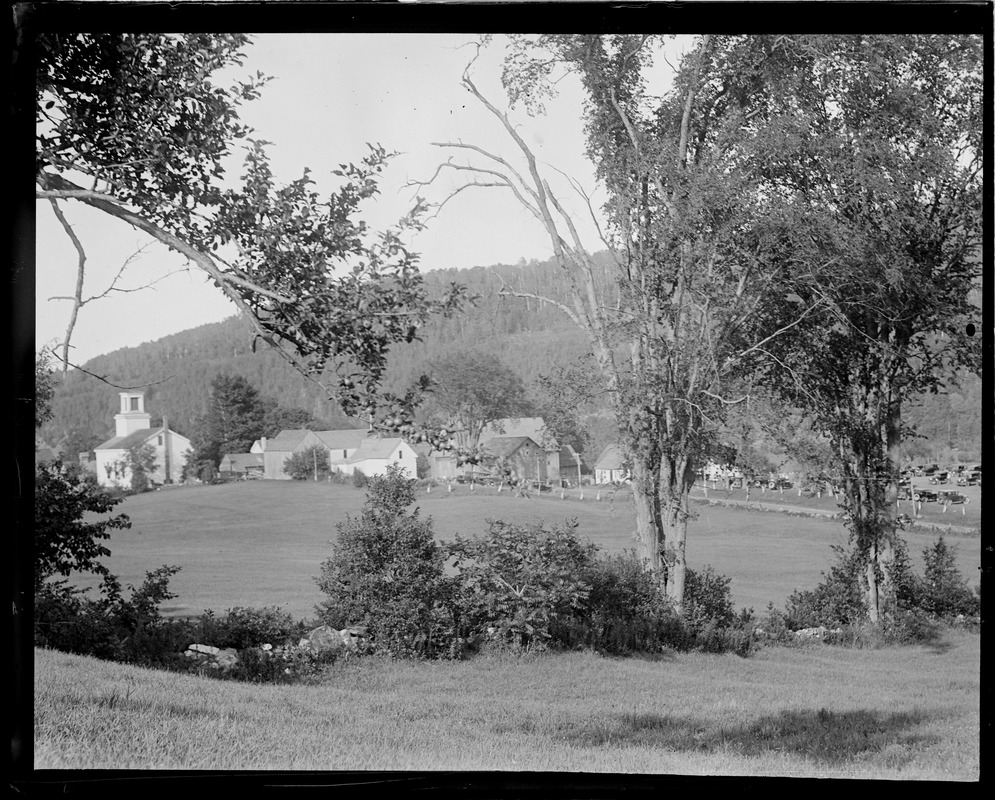 Plymouth, VT - Birthplace of Pres. Coolidge. White Church on left where Coolidge attends on Sunday