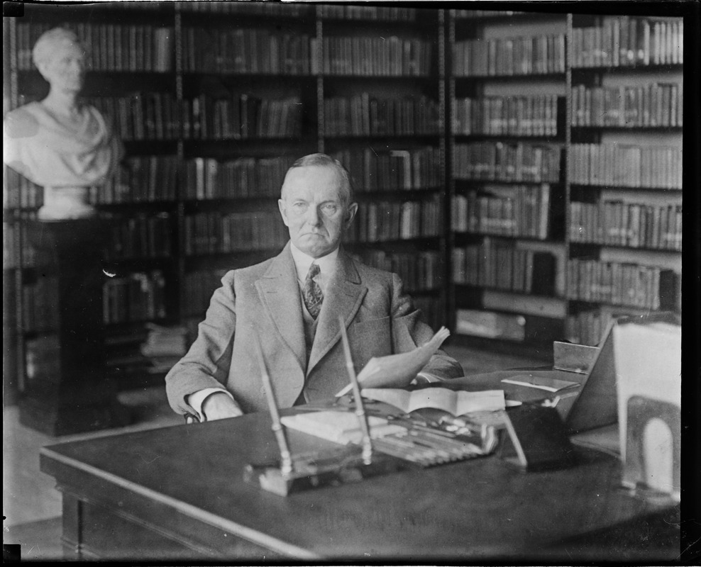 President Coolidge in his summer White House - Brule River, Wisconsin