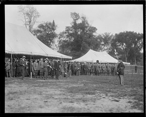 Gov. Coolidge on Boston Common to review ancient and honorable artillery company