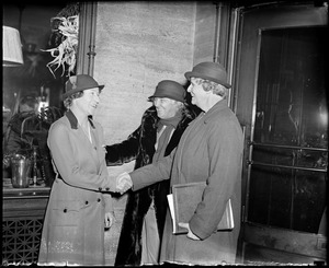 Mrs. Hoover in Boston to meet with Girl Scouts