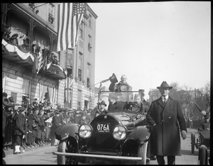 Pres. Wilson visits Boston on return trip from France