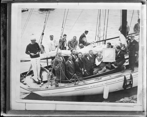F.D. Roosevelt sailing in New England