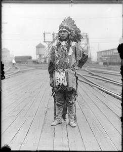 Real American Indian chief from Buffalo Bill's Wild West Show