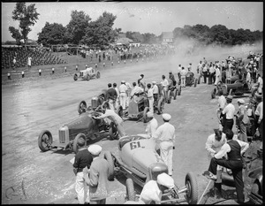 Autos at Readville race track