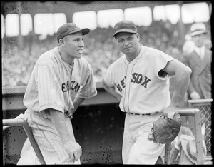 Hal Trosky and Jimmie Foxx. Sox/Indians.