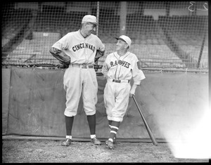 Rabbit Maranville of the Braves and Eppa Rixey of the Reds