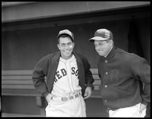 Jimmie Foxx with fellow Red Sox player