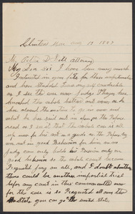 Sacco-Vanzetti Case Records, 1920-1928. Defense Papers. Arthur D. Hill Correspondence: C. Box 22, Folder 3, Harvard Law School Library, Historical & Special Collections
