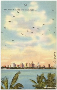 Army pursuit planes over Miami, Florida
