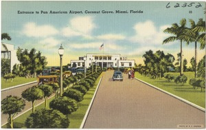 Entrance to Pan American Airport, Coconut Grove, Miami, Florida