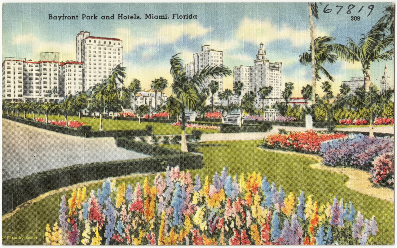 Bayfront Park And Hotels Miami Florida