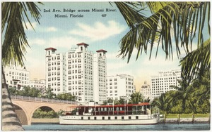 2nd Avenue bridge, across Miami River, Miami, Florida