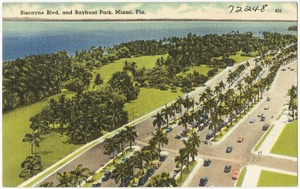 Biscayne boulevard and Bayfront Park, Miami, Florida