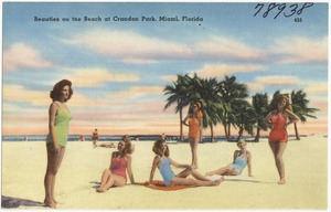 Beauties on the Beach at Crandon Park, Miami, Florida
