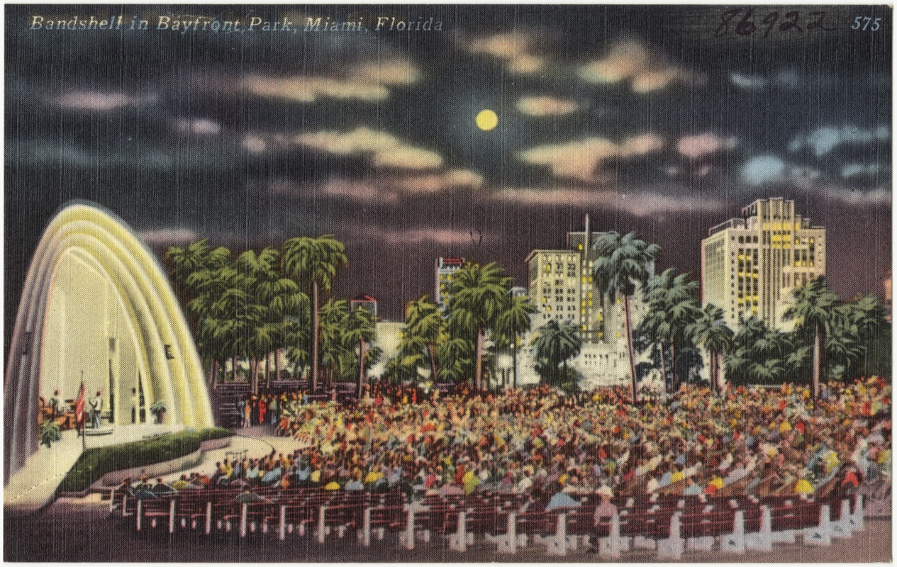 Band shell in Bayfront Park in Miami, Florida