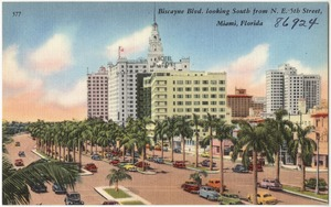 Biscayne Blvd. looking south from N.E. 5th Street, Miami, Florida