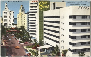 Luxurious ocean front hotel, along Collins Ave., Miami Beach, Florida