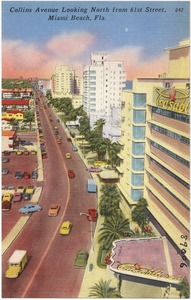Collins Avenue looking north from 61st Street, Miami Beach, Florida