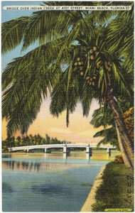 Bridge over Indian Creek at 41st St., Miami Beach, Florida