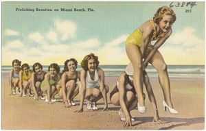 Frolicking Beauties on Miami Beach, Florida