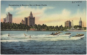 Aquaplaning in Biscayne Bay at Miami, Florida
