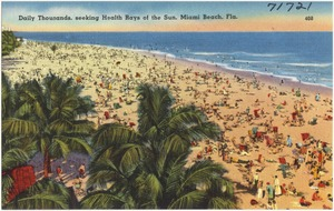 Daily thousands, seeking health rays of the sun, Miami Beach, Florida