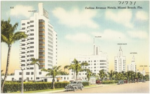 Collins Avenue hotels, Miami Beach, Florida