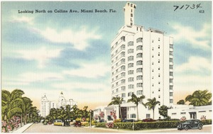 Looking north on Collins Ave., Miami Beach, Florida