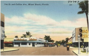 71st St. and Collins Ave., Miami Beach, Florida