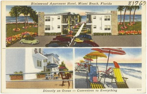 Binimwood Apartment Hotel, Miami Beach, Florida, directly on ocean- convenient to everything