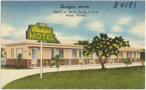 Badger Motel, 7060 S.W. 8th St. on Hy. U.S. 41, Miami, Florida