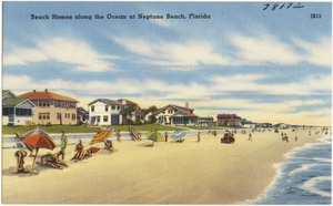 Beach homes along the ocean at Neptune Beach, Florida