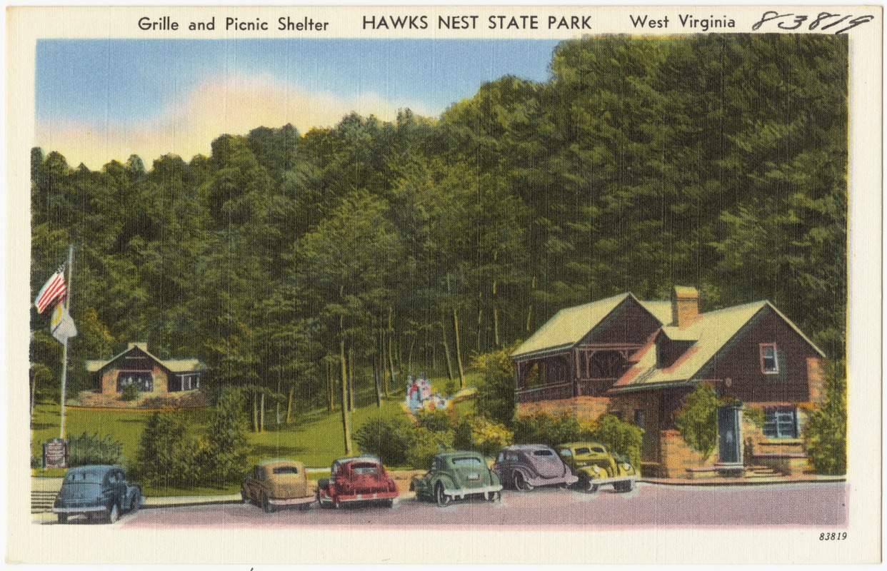 Grille and picnic shelter, Hawks Nest State Park, West Virginia