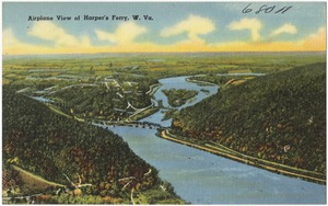 Airplane view of Harper's Ferry, W. Va.