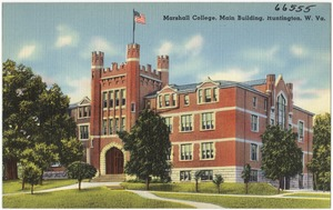 Marshall College, main building, Huntington, W. Va.