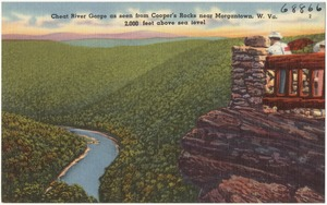 Cheat River Gorge as seen from Cooper's Rocks near Morgantown, W. Va., 2,000 feet above sea level