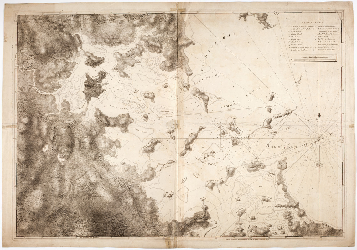 [Chart of Boston Harbor and the surrounding areas]