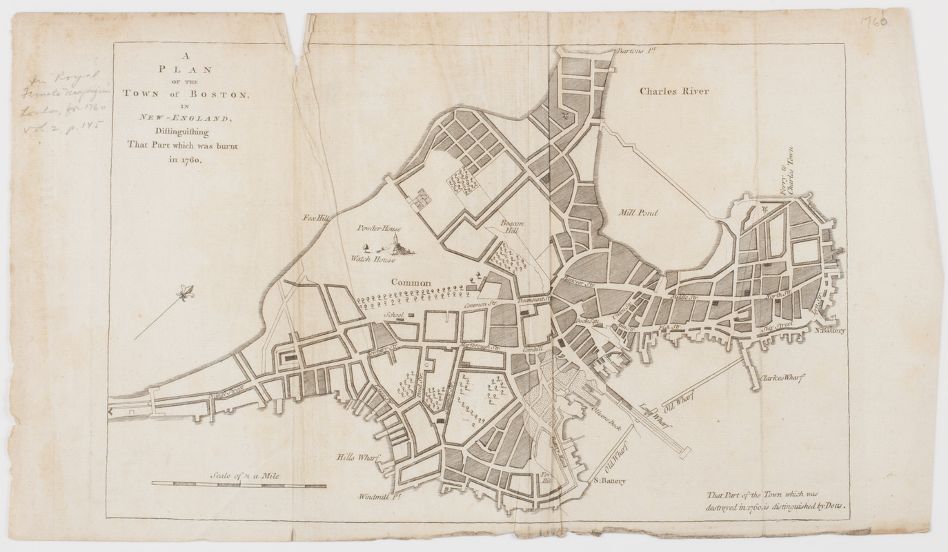 A Plan of the town of Boston, in New-England,
