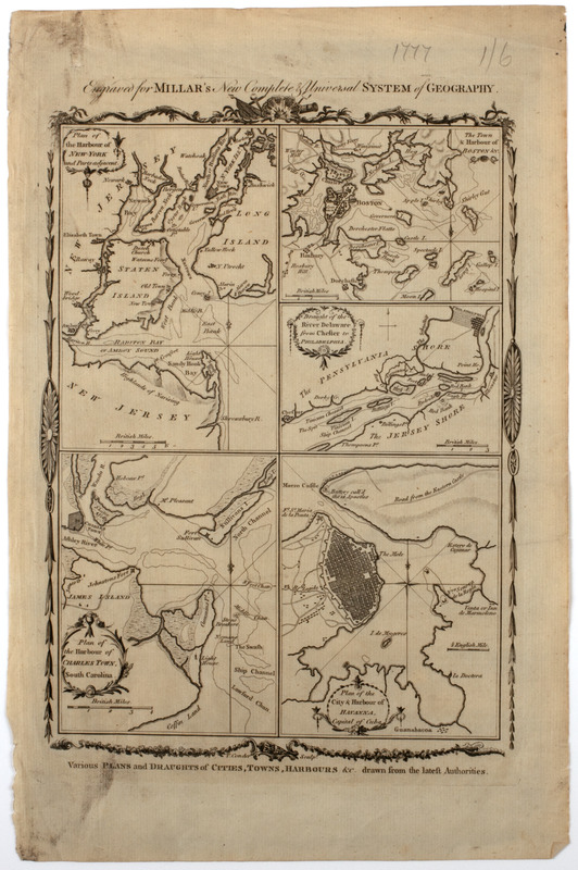 Various plans and draughts of cities, towns, harbours &c. drawn from the latest authorities