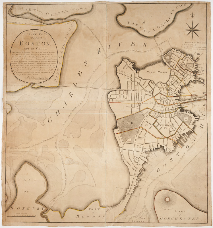 An accurate plan of the town of Boston and its vicinity