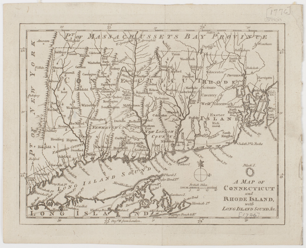 A Map of Connecticut and Rhode Island, with Long Island Sound, &c