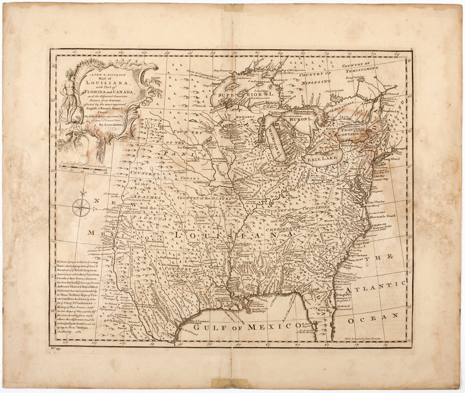 A new & accurate map of Louisiana, with part of Florida and Canada,