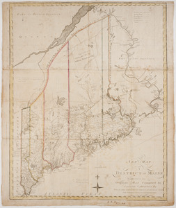 A new map of the District of Maine