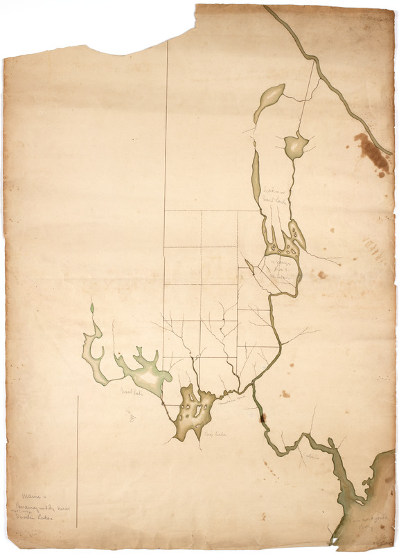 Map of the area along the Saint Croix River in Maine and New
