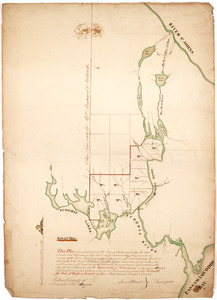 This plan represents par of the Bay of Passamoquoddy