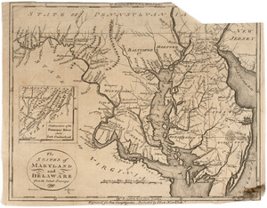 The states of Maryland and Delaware from the latest surveys, 1799